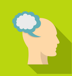 Profile of the head with cloud inside icon vector