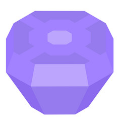Purple gem stone icon isometric style vector