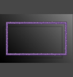 Rectangle banner a purple sequin background frame vector
