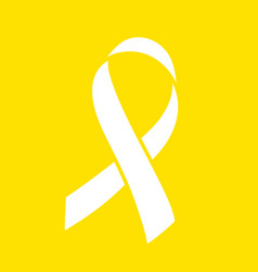 Ribbon over yellow background world childhood vector
