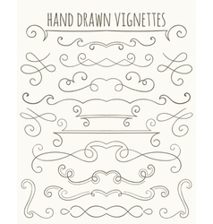 Set of hand drawn vignettes vector