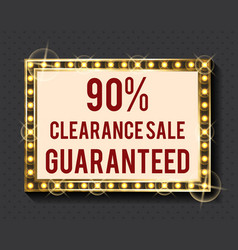 shopping board clearance sale purchase vector image
