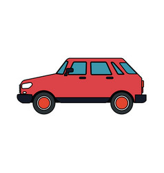 Small red car icon image vector