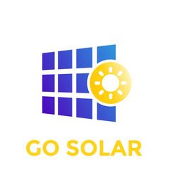 Solar panel icon logo vector