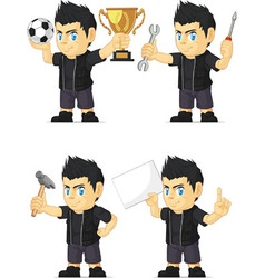 Spiky Rocker Boy Customizable Mascot 16 vector