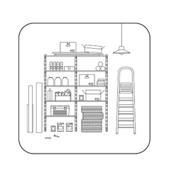 Storeroom line interior vector image