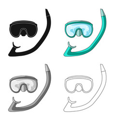 The mask and snorkel for divingsummer rest single vector