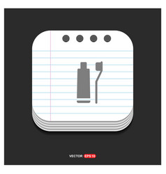 toothpaste and toothbrush icon gray icon on vector image