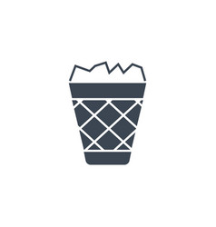 trash bin related glyph icon vector image