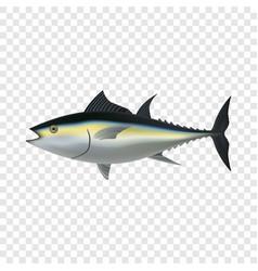 Tuna fish mockup realistic style vector
