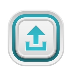 Upload button isolated vector