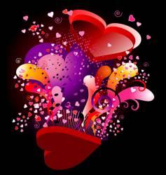 valentine ka-boom vector image