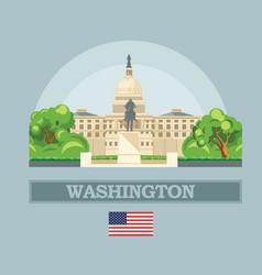 Washington dc skyline in usa vector