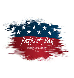we will never forget patriot day vintage label vector image