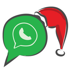 whatsapp logo or color vector image