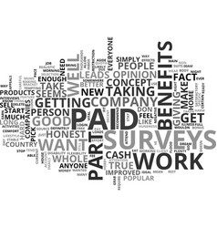 Why are paid surveys so popular text word cloud vector