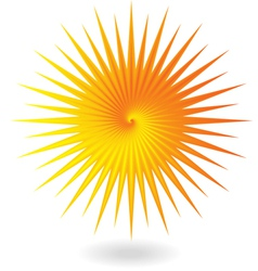 Yellow orange sun vector