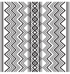 zigzag seamless pattern black and white vector image