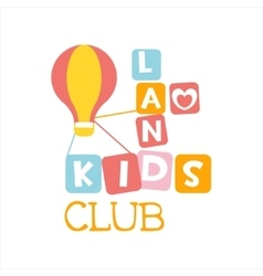 Kids land playground and entertainment club vector