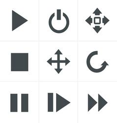 media Icons Set Design vector image