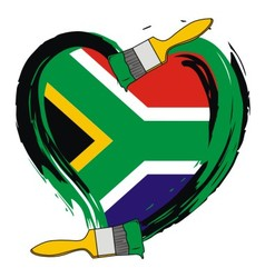 South Africa grunge flag vector image vector image