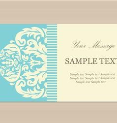 vintage card blue copy vector image vector image