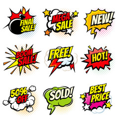 best offer and sale promotional collection vector image vector image