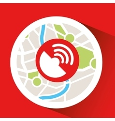 connection laptop map gps vector image