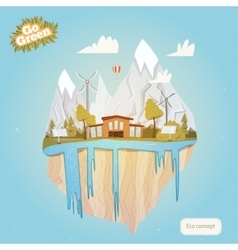 Ecology Concept for Green Energy and vector image