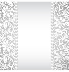 pearl and lace vector image vector image