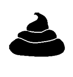 Pixel art style pile of black shit isolated vector image