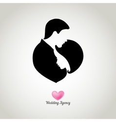 Weding agency logo vector image vector image