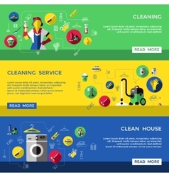 Cleaning Banner Set vector image vector image