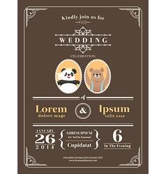 Cute Vintage wedding invitation design Template vector image vector image