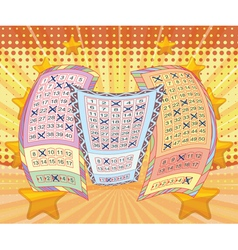 Lottery tickets with attractive scene vector image