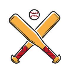 baseball sport game usa america travel landmarks vector image vector image