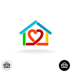 Home care cleaning service logo idea vector image vector image
