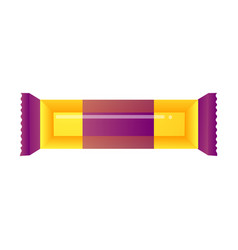 A packaged chocolate bar and candy colorful vector
