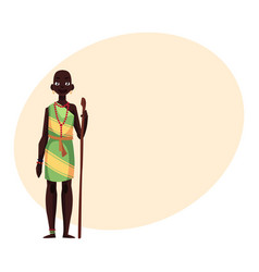 Aborigine woman from african tribe wearing vector
