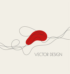 Abstract curve twisted line vector