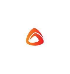 abstract shape company logo vector image