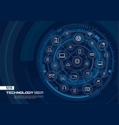 Abstract technology background digital connect vector