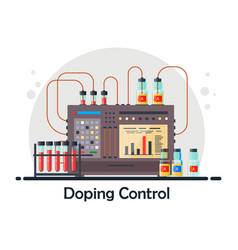 Anti-doping laboratory for blood urine tests vector