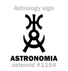 Astrology asteroid astronomia vector