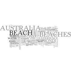 Australia beaches text word cloud concept vector