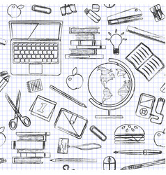 back to school seamless pattern good vector image