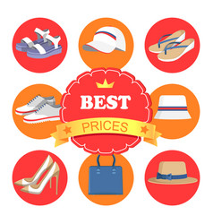 best prices poster and icons vector image