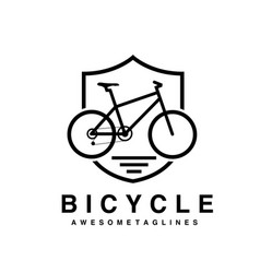 bike badge outline vector image