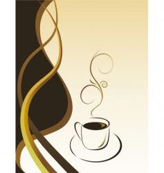 black coffee vector image