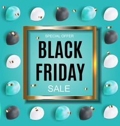 Black friday sale inscription banner design vector